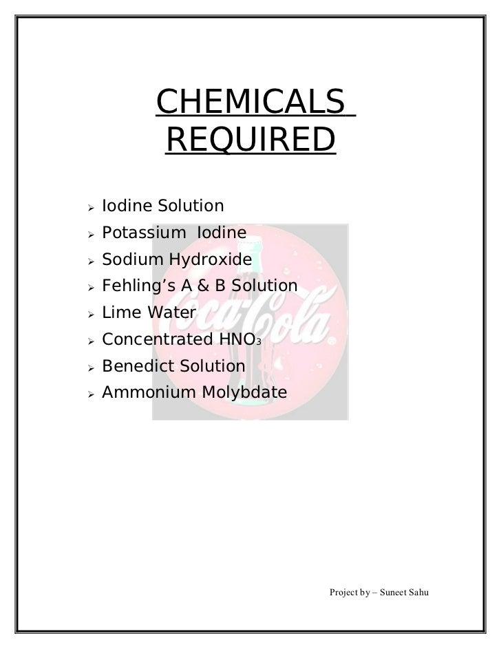 Chemical Formula For Soft Drink