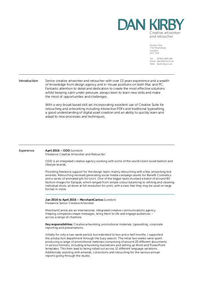 resume folio