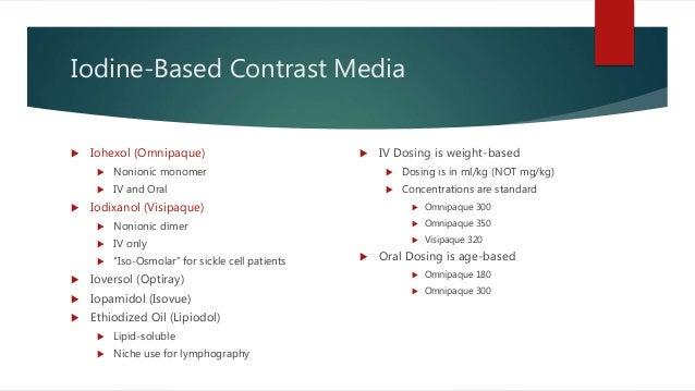 Oral Contrast Media 2