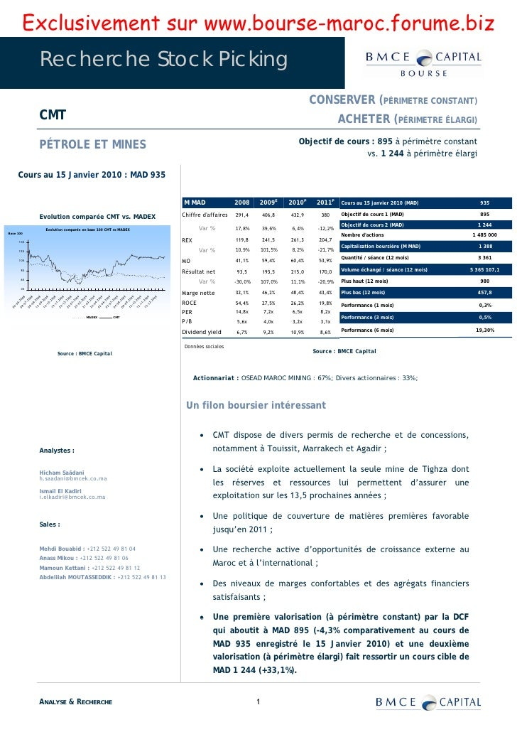 Exclusivement sur www.bourse-maroc.forume.biz             Recherche Stock Picking                                         ...