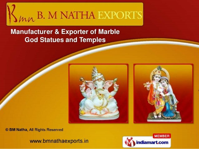 Manufacturer & Exporter of Marble   God Statues and Temples