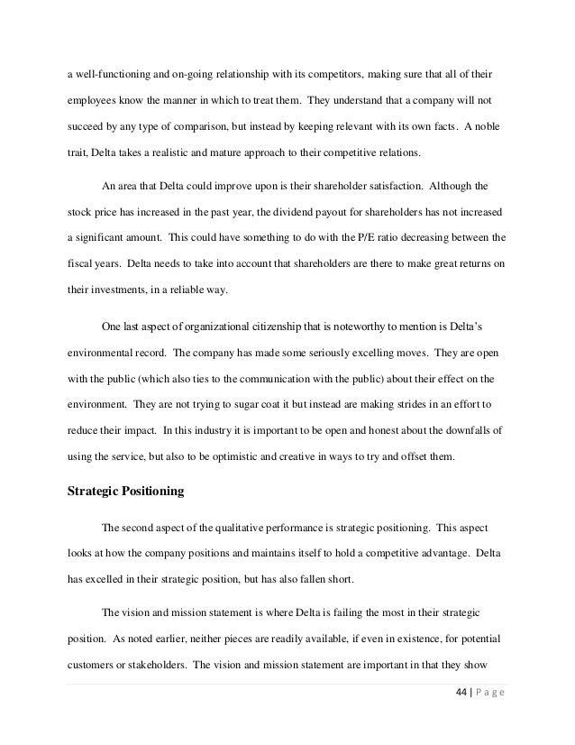 delta airlines mission statement
