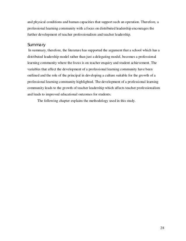 professional learning communities dissertation The effects of professional learning communities on student achievement showing 1-4 of 136 pages in this dissertation  pdf version also available for download.