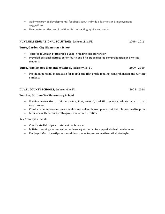 Curriculum Resume 1