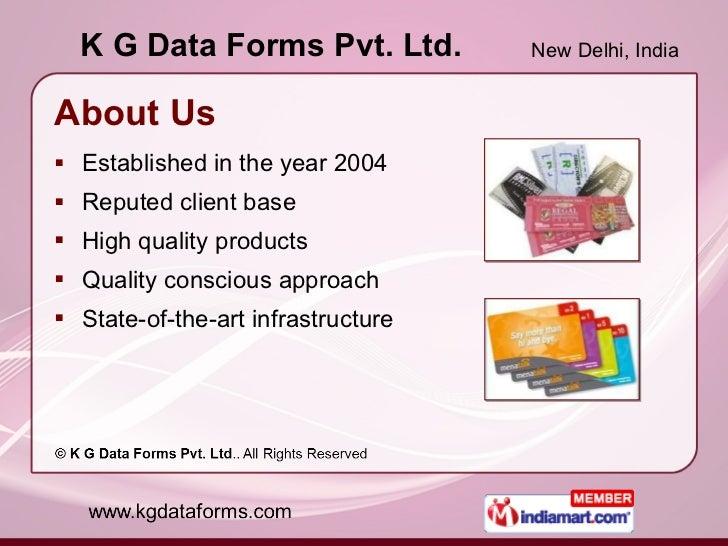 Barcode Solutions by K G Data Forms Pvt. Ltd. New Delhi Slide 2