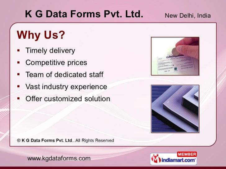 Barcode Solutions by K G Data Forms Pvt. Ltd. New Delhi Slide 3