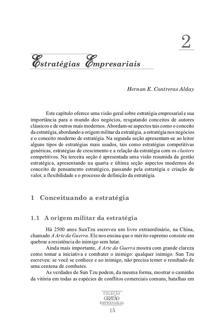 2Estratégias Empresariais                                                Hernan E. Contreras Alday        Este capítulo of...