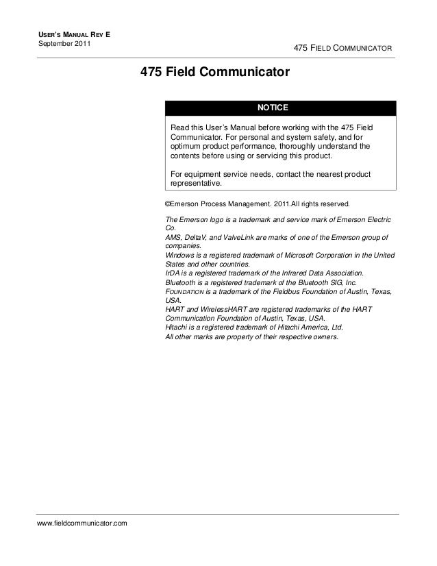 hart communicator 475 user manual pdf