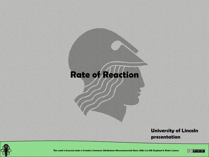 Rate of Reaction                                                                                               University ...