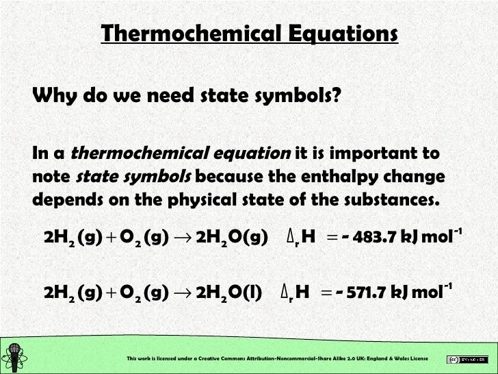Chemical Reactions Thermochemistry