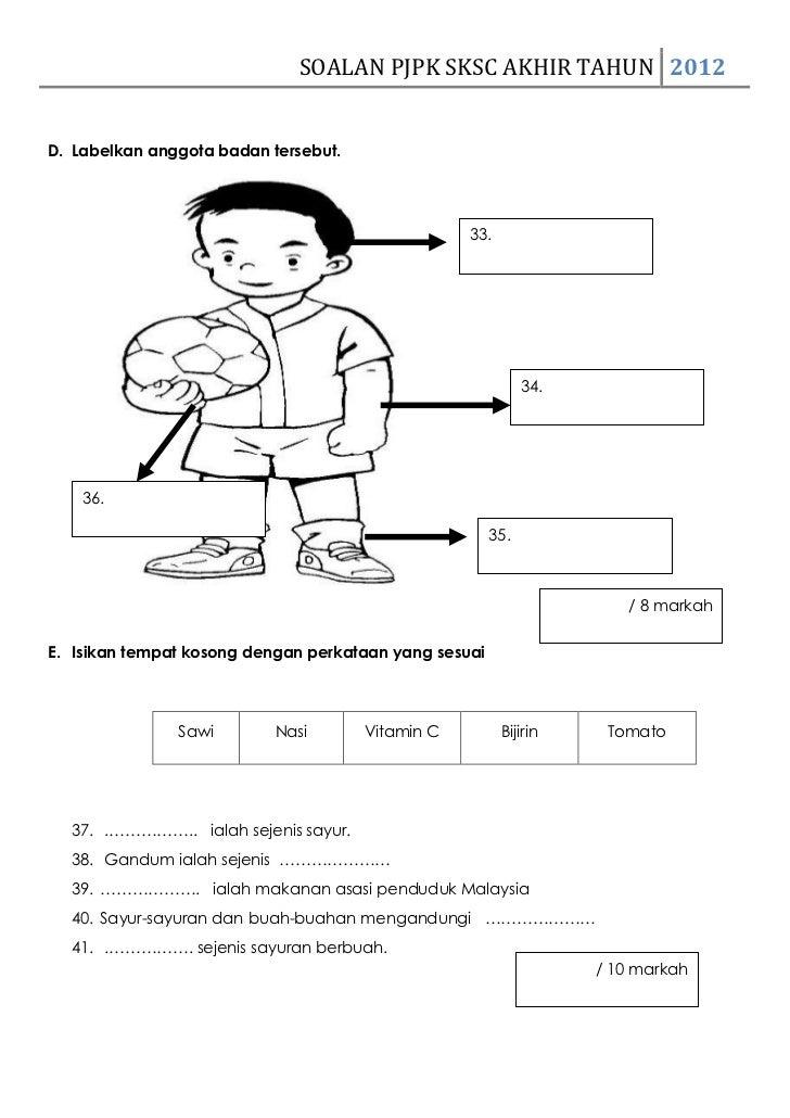 Contoh Soalan Pendidikan Jasmani Tahun 3 Kssr U Soalan