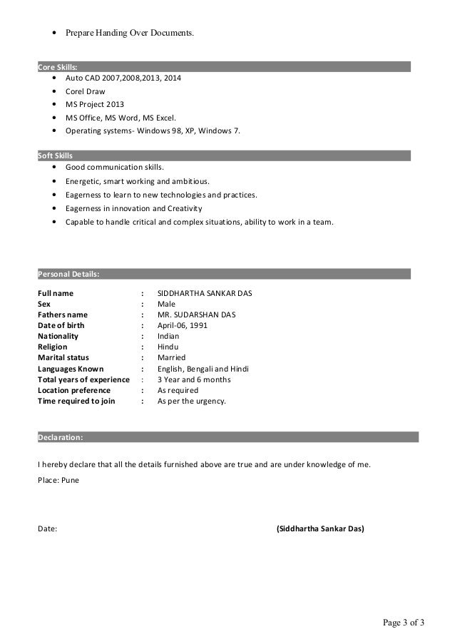 siddhartha resume with 3 5 years exp