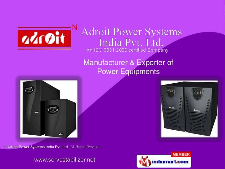 Manufacturer & Exporter of   Power Equipments