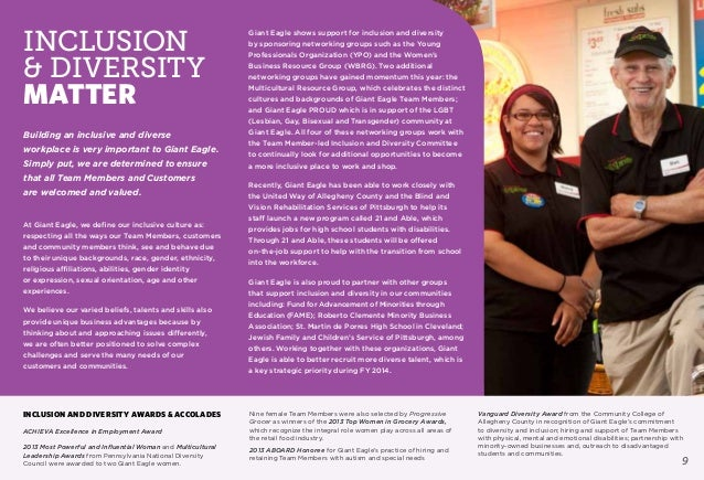 Giant Eagle Corporate Social Responsibility Report 2013 EXT