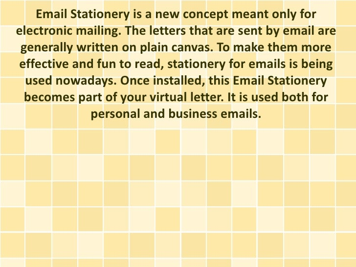 email staionery