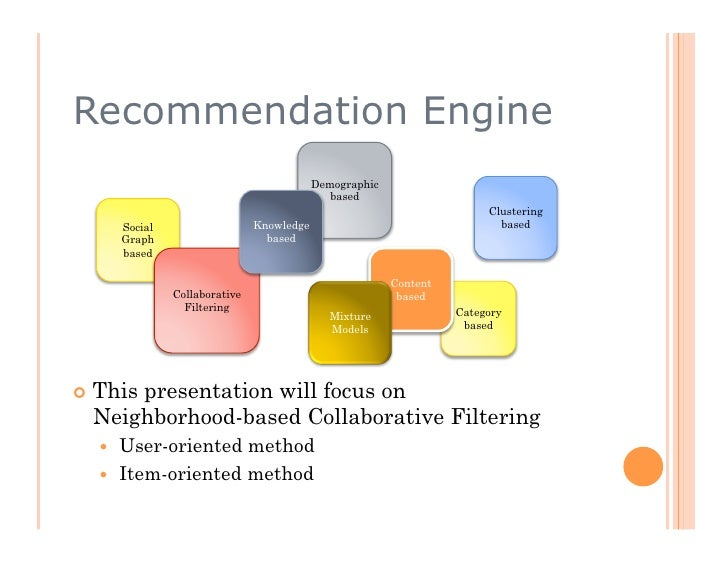 Recommendation Engine Demystified