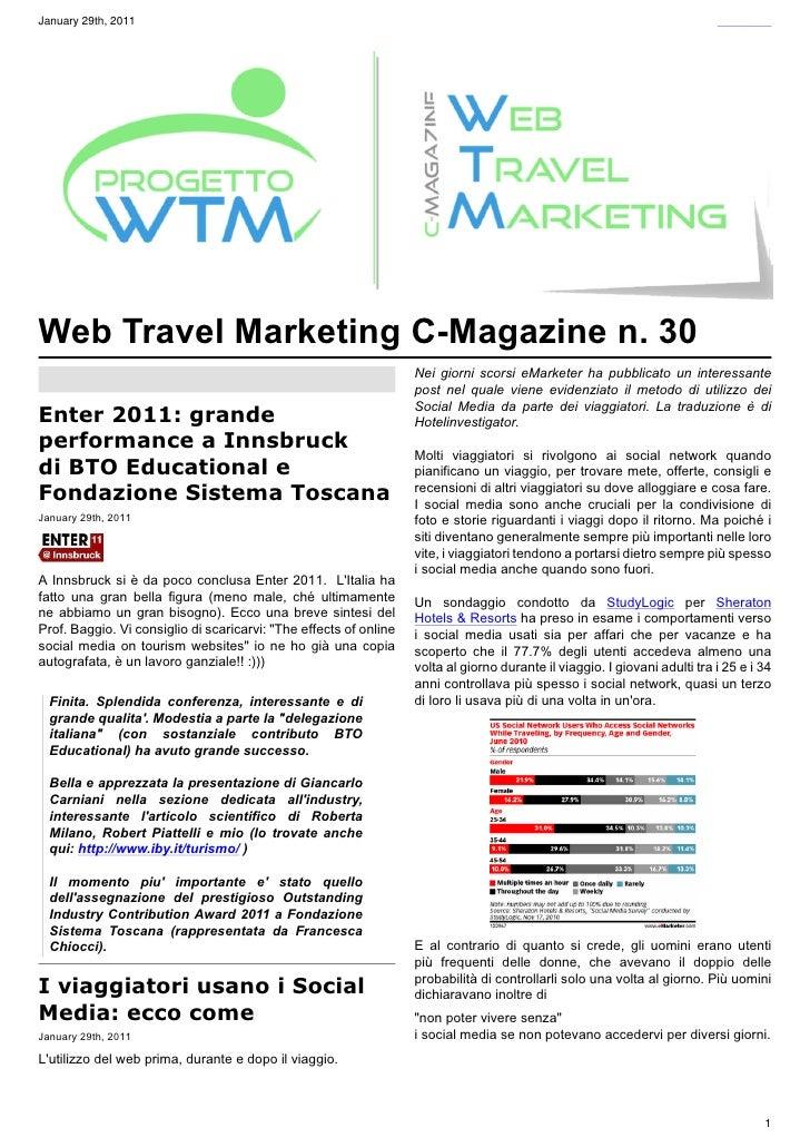 January 29th, 2011Web Travel Marketing C-Magazine n. 30                                                                   ...