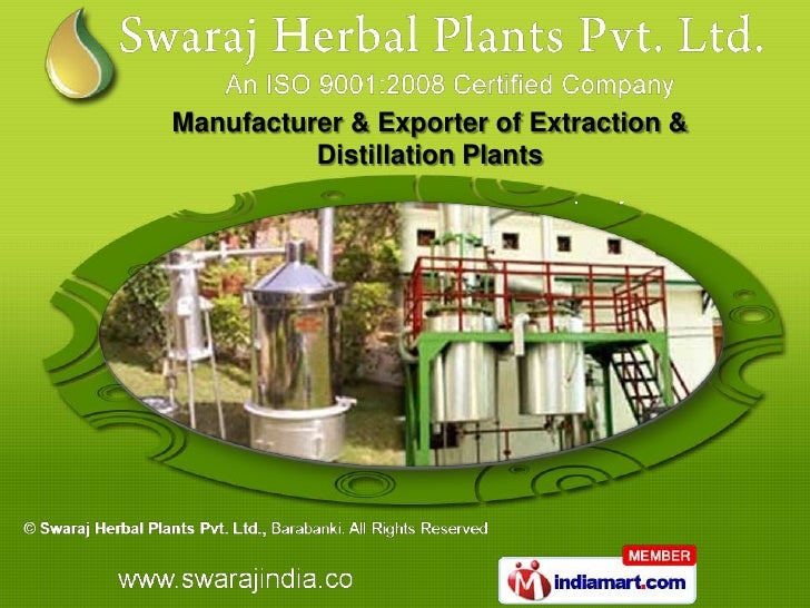 Manufacturer & Exporter of Extraction &          Distillation Plants