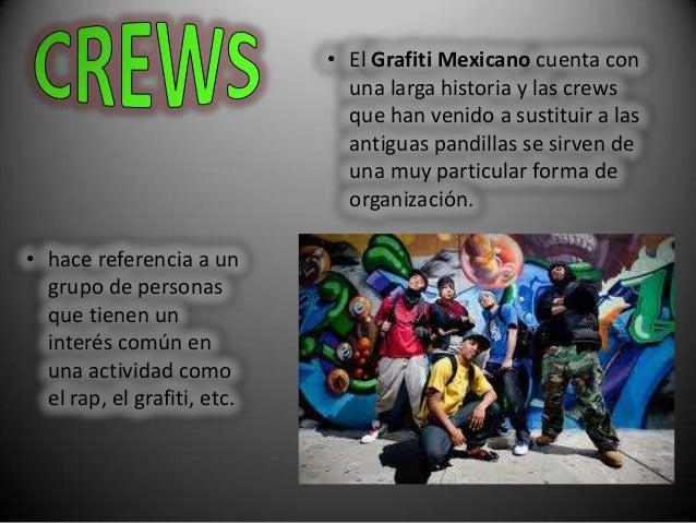 • hace referencia a ungrupo de personasque tienen uninterés común enuna actividad comoel rap, el grafiti, etc.• El Grafiti...