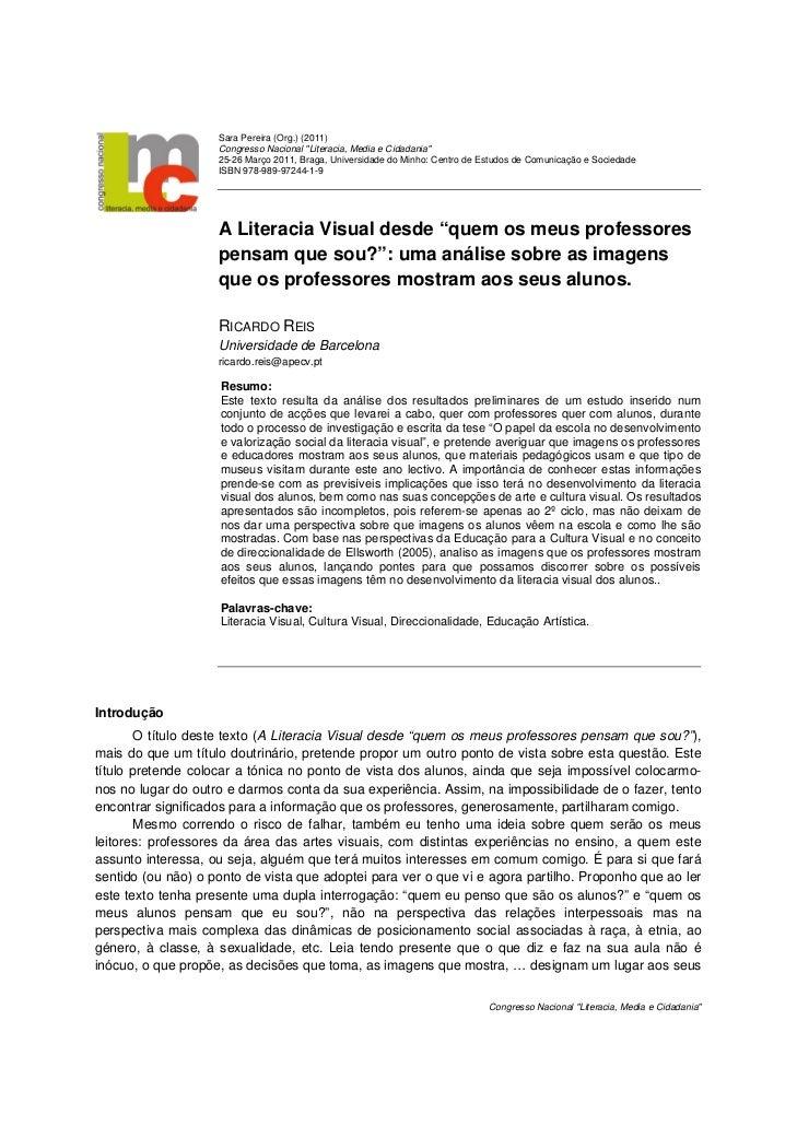 """Sara Pereira (Org.) (2011)                    Congresso Nacional """"Literacia, Media e Cidadania""""                    25-26 M..."""
