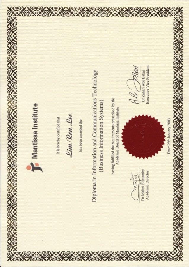 Lim Ren Lee_ICT BIS Diploma
