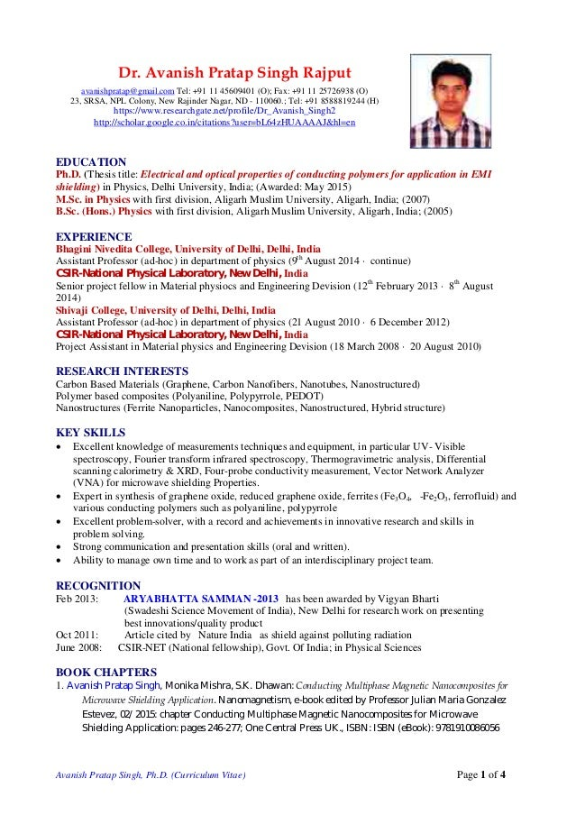 Phd abd resume