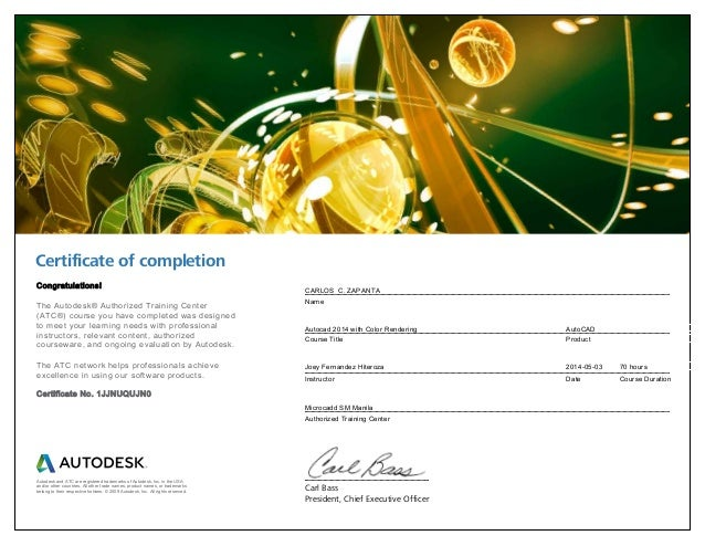i have a certificate of completion