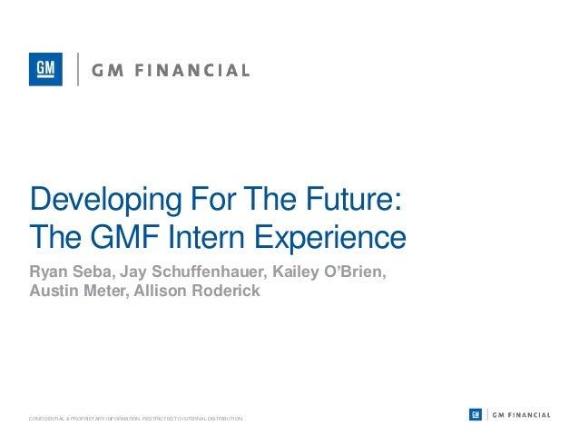 GMF Intern GroupPresentation
