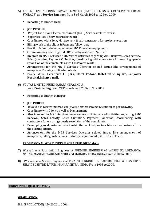 killedar resume