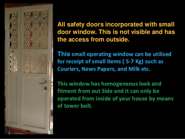 6. All safety doors incorporated ... & 47 all detail high security ms door