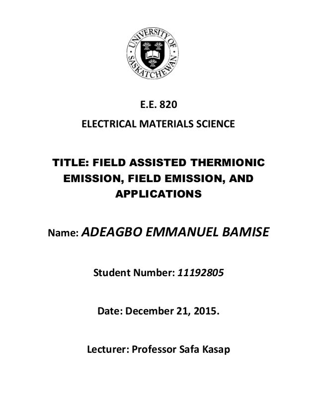 field thesis The dissertation is a formal, stylized document used to argue your thesis the thesis must be it simply needs to be an incremental advancement in the field.