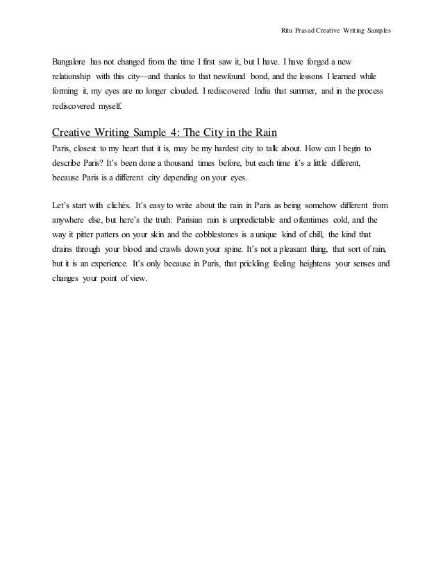 how to write a creative essay