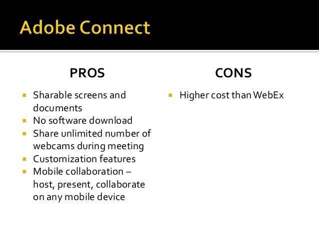 Virtual Meeting Options - Adobe Connect Vs  Cisco WebEx