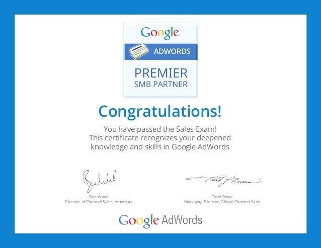 Google adwords certification training картинки для яндекс директ размер