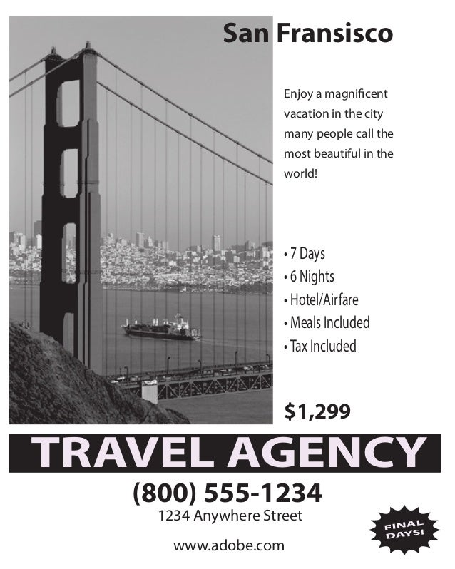 San Fransisco Enjoy a magnificent vacation in the city many people call the most beautiful in the world! • 7 Days • 6 Nigh...