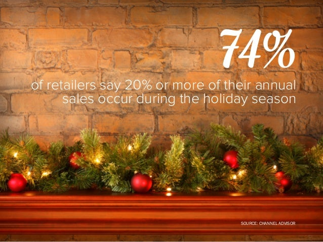 of holiday browsing and buying will take place online 46% SOURCE: NATIONAL RETAIL FEDERATION