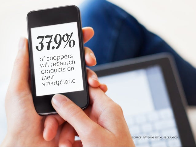 will use their smartphone to look up product availability while in-store 1 in 5 SOURCE: NATIONAL RETAIL FEDERATION