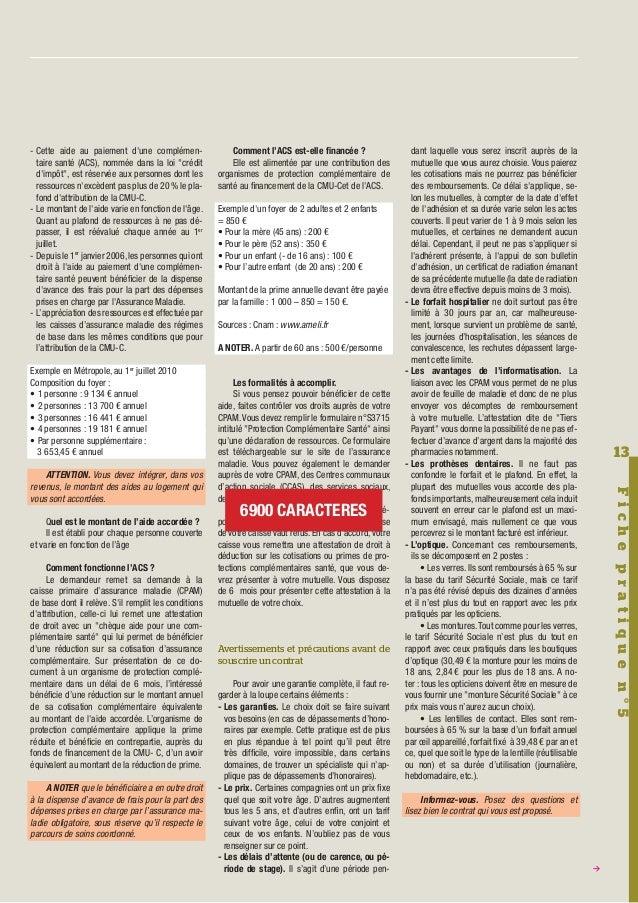 Journal l 39 h pant n 48 juillet 2010 - Plafond a ne pas depasser pour avoir la cmu ...