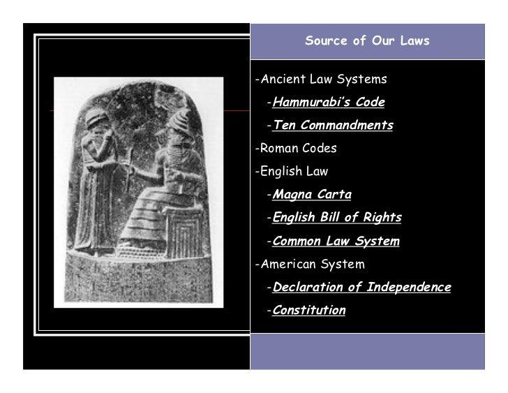 Hammurabi code magna carta 12 tables
