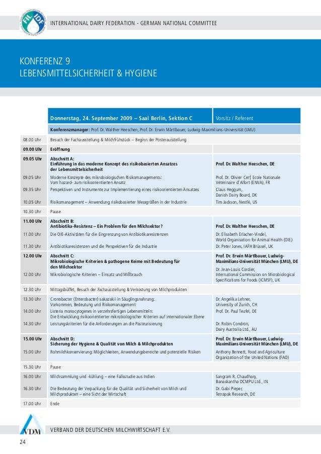 BERLIN 20 - 24 SEPTEMBER 2009 25 WWW.WDS2009.COM IDF WORLD DAIRY SUMMIT 2009 | MARITIM HOTEL BERLIN | Konferenz 10 Marketi...