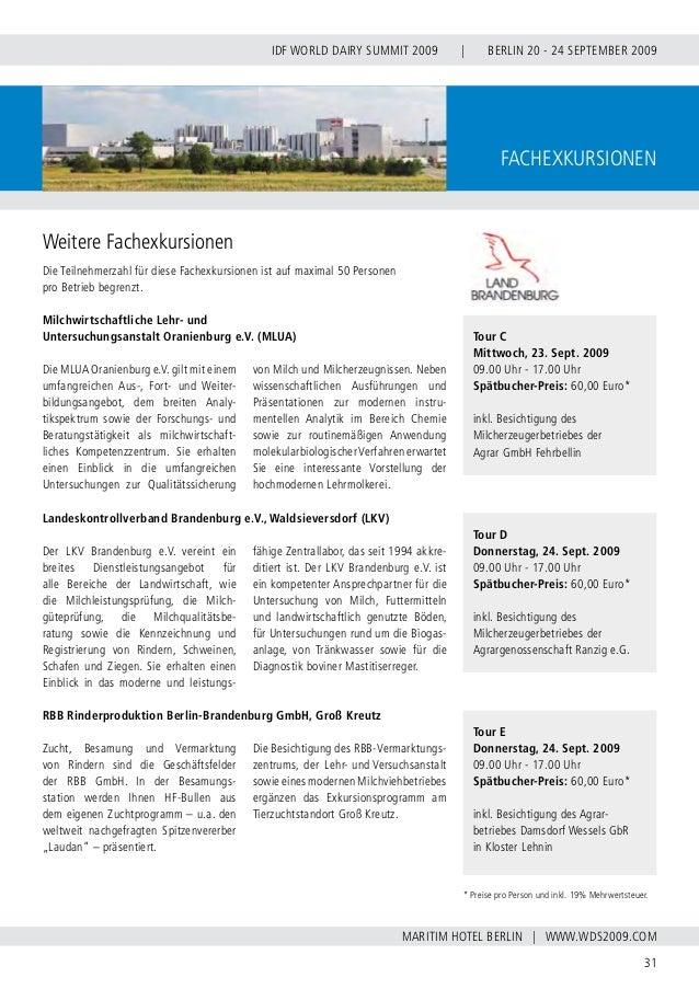 INTERNATIONAL DAIRY FEDERATION - GERMAN NATIONAL COMMITTEE 32 VERBAND DER DEUTSCHEN MILCHWIRTSCHAFT E.V. With a century of...