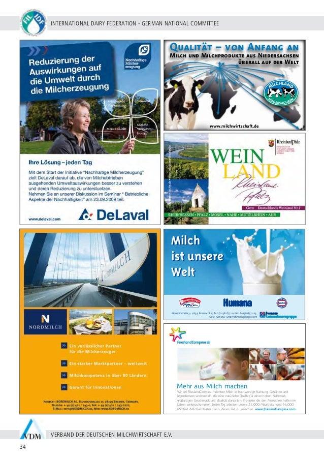 BERLIN 20 - 24 SEPTEMBER 2009 35 WWW.WDS2009.COM IDF WORLD DAIRY SUMMIT 2009 | MARITIM HOTEL BERLIN | rahmenprogramm Monta...