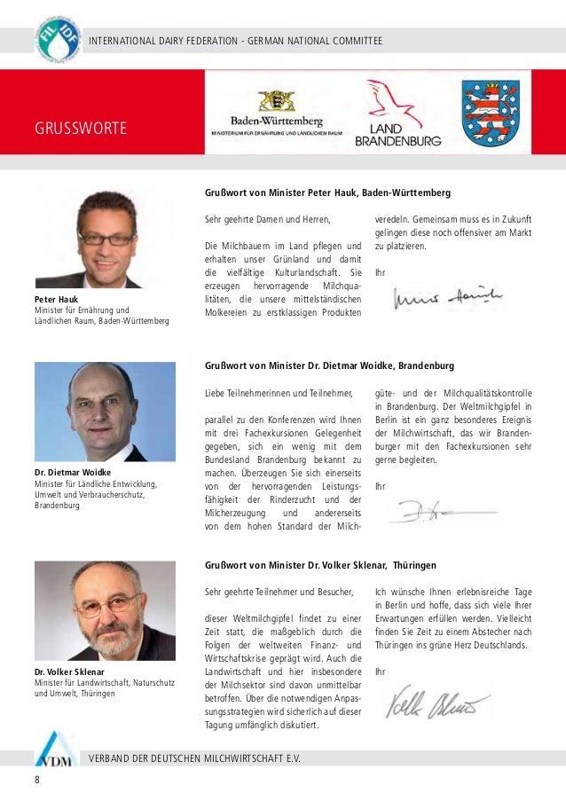 BERLIN 20 - 24 SEPTEMBER 2009 9 WWW.WDS2009.COM IDF WORLD DAIRY SUMMIT 2009 | MARITIM HOTEL BERLIN | MILCHWIRTSCHAFT IN DE...