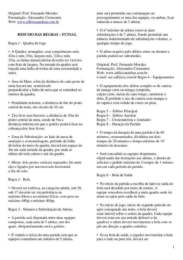 Original  Prof. Fernando Morales nem será permitido sua continuação  ouFormatação  Alessandro ... 98abf867e560b