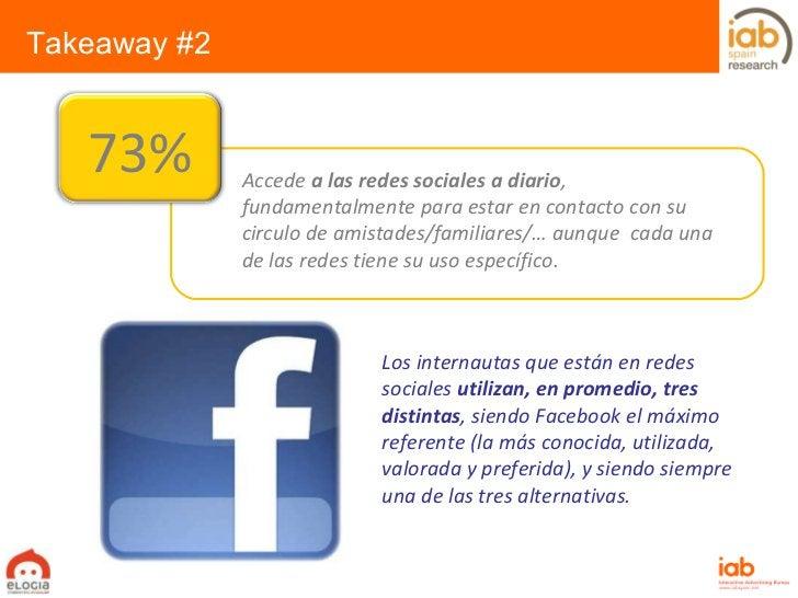 Los internautas que están en redes sociales  utilizan, en promedio, tres distintas , siendo Facebook el máximo referente (...