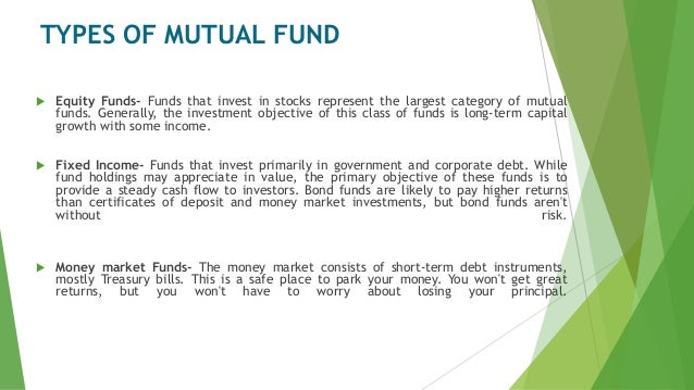 Introduction To Mutual Fund And Its Various Aspects Funds Securities Finance