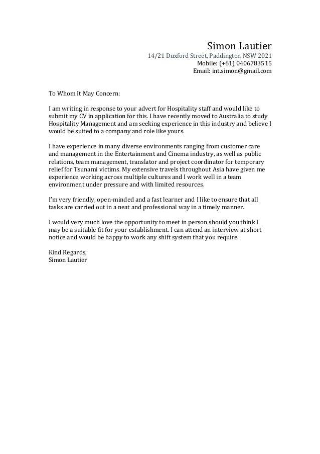 Cover Letter Entertainment Industry | Resume CV Cover Letter