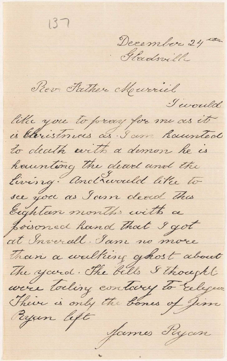 Letters from patients, 1890s [Gladesville Hospital]
