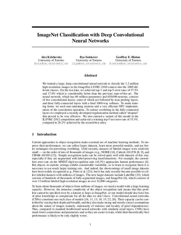 ImageNet Classification with Deep Convolutional Neural