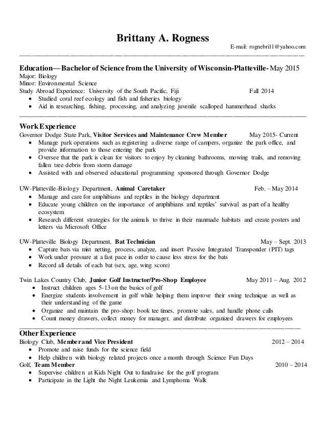 Additional coursework on resume what is related